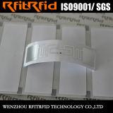 Étiquettes passives d'étiquette d'IDENTIFICATION RF de papier thermosensible de long terme de fréquence ultra-haute