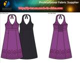 Ткань простирания дорог полиэфира 4, располагая ткань платья Spandex печатание, сплетенная ткань