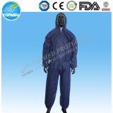 Trajes de trabajo impermeables, trajes negros para las operaciones de rociado de cultivos