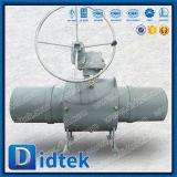 Didtekの火の金庫のワームギヤが付いている十分に溶接された球弁