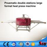 Heißes verkaufendes großes Format-pneumatisches Aluminiumplatten-Wärme-Presse-Gerät