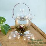 中国のハンドメイドの功妙な茶、花の茶、花盛りの茶、カスタマイズされたギフトのパッケージ(BT004)が付いている咲く茶こし器