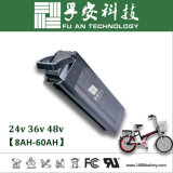 Paquete de la batería del Li-ion de los pescados de plata 48V 10ah para la E-Bici