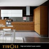 新しく白いデザインプレハブの全家の台所家具Tivo-085VW