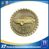 3D旧式な金の記念品の硬貨の円形浮彫り