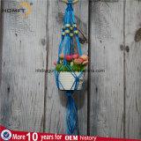 Держатель цветочного горшка магазина Deco размера голубого полиэфира цвета малый