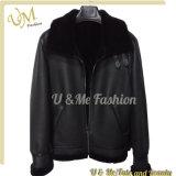Unisex 100% поддельный цена изготовления кожаный куртки шерсти