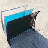 Toldo plástico transparente desobstruído manual do policarbonato de DIY