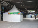 Carpa Alumunum Pagoda blanca de PVC con puerta de vidrio para la boda
