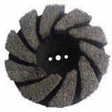 Brosse à plaques abrasives pour polir