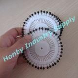 Pin principal de adornamiento de la perla del color de 38m m de la rueda negra del Pin