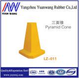 Haltbares Yellow 520mm PET Pyramid Cone