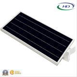 세륨 & RoHS 증명서 18W PIR 센서에 의하여 통합되는 LED 태양 정원 또는 가로등