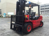 chariot 4.5Ton gerbeur diesel avec le mât 4.5Meter triple (HH45Z-N7-D, couleur rouge)