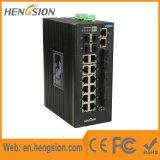 4 Schakelaar van het Netwerk Ethernet van Gigabit Combo de Industriële met Vezel 4