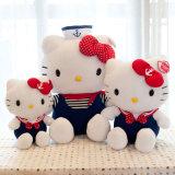 La peluche en gros de Kitty de bonjour doux chaud de vente a personnalisé les jouets bourrés