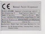 Distribuidor de tintas manual de latas de plástico Jy-20b4