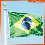 Su ordinazione impermeabilizzare e modello no. della bandiera nazionale del Brasile della bandiera nazionale di Sunproof: NF-005