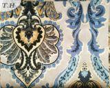 Tela colorida del terciopelo de la impresión para los muebles y el sofá