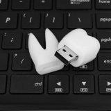 Movimentação dental do flash do USB da forma do dente do dentista da vara da memória da clínica do presente relativo à promoção feito sob encomenda do logotipo
