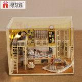 Miniatura 2017 de madeira do Dollhouse de Assemblling do brinquedo da inteligência DIY