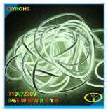 220V IP65セリウムのRoHSの証明の白いネオンロープライト