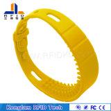 Wristband di misura adattabile del silicone RFID della matrice per serigrafia per la spiaggia di bagno