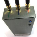 Stampo tenuto in mano del segnale del cellulare 3G con 3 antenne