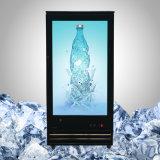 """"""" congélateur transparent de l'affichage à cristaux liquides 55 pour la nourriture et la boisson"""
