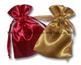 Petite poche organique de cadeau de bijou de toile de coton estampée par coutume promotionnelle