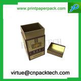 Картонная коробка подарка чая сбор винограда твердая подгонянная упаковывая