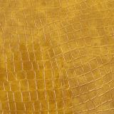 Couro sintético gravado do PVC do crocodilo para bolsas