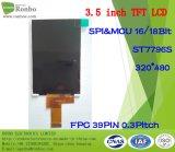 """3.5 """" индикация 320X480 MCU 39pin TFT LCD, экран касания варианта"""