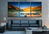 5つのパネルの壁のキャンバスの装飾的な景色の絵画は自然な景色の印刷を制作する