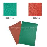 Le vinyle en cuir vert d'intérieur de qualité folâtre l'étage pour le badminton 4.5m de tennis