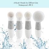 4 en 1 cuidado facial eléctrico de la cara de la escobilla de la despedregadora de la herramienta de la belleza profundamente