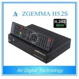 Profesional receptor de satélite y descodificador Zgemma H5.2s sistema operativo Linux DVB-S2 + S2 Twintuners con H. 265 / HEVC