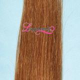 Trame 100% de peau de vente en gros de cheveux humains de bande de la pente 8A Remy