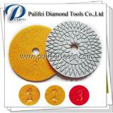 돌 콘크리트 표면 끝마무리는 다이아몬드 수지 닦는 패드를 도구로 만든다
