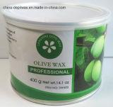 Чонсервная банка воска 400g прокладки депиляционного воска зеленого чая мягкая