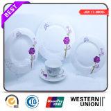 Reeks van het Diner van het Porselein van China van het Been van de Stijl van Europa van de microgolf de Veilige Elegante