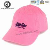 Gorra de béisbol roja clásica del bordado del algodón para el modelo de la insignia de DIY