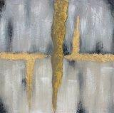Pintura al óleo abstracta hecha a mano del 100% para Romm de vida