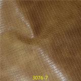 Популярная сплетенная кожа Faux PU зерна для способа обувает материал