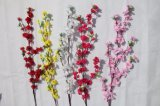 花嫁の装飾の結婚式の装飾の卸し業者のための絹の人工花のモモの花の偽造品の花