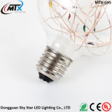 Tornillo colorido s46 de la lámpara E27 de Edison de la vendimia del globo de cielo del bulbo estrellado retro de la luz 2W LED