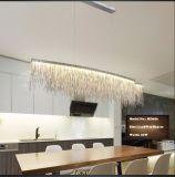 現代食堂のシャンデリアの照明ふさのアルミニウムチェーン吊り下げ式ライト