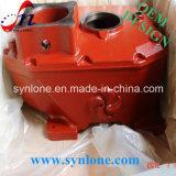 塗られた赤の砂型で作るギヤボックス