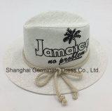 Sombrero impreso de papel del sombrero de paja con la cuerda (Sh020)