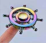 다채로운 무지개 싱숭생숭함 방적공은 긴장 장난감 손 싱숭생숭함 방적공을 구호한다